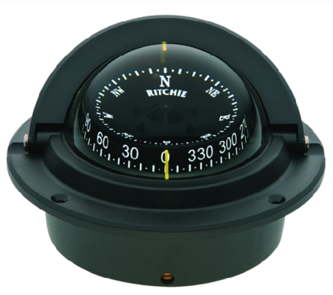 Voyager Compass-Flush Mount, Combi Dial, Black