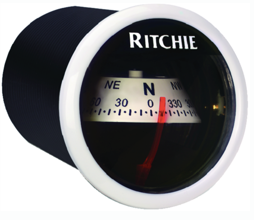 Ritchie Sport In-Dash Compass, White w-White Card