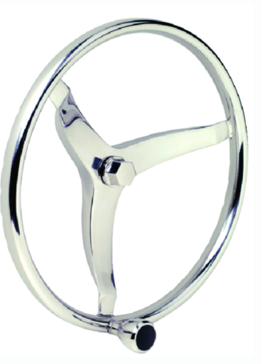 Seachoice Stainless Steel Sports Steering Wheel With Turning Knob
