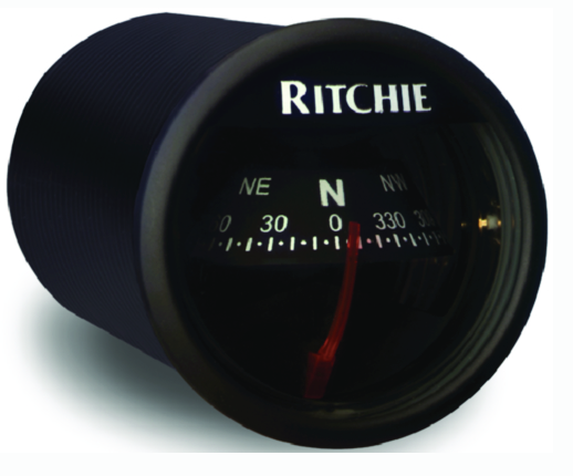 Ritchie Sport In-Dash Compass, Black w-Black Card