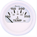 "Faria Dress White 2"" Cylinder Head Temperature Gauge With Sender (60-220F)"