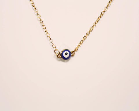 Collier oeil protecteur or