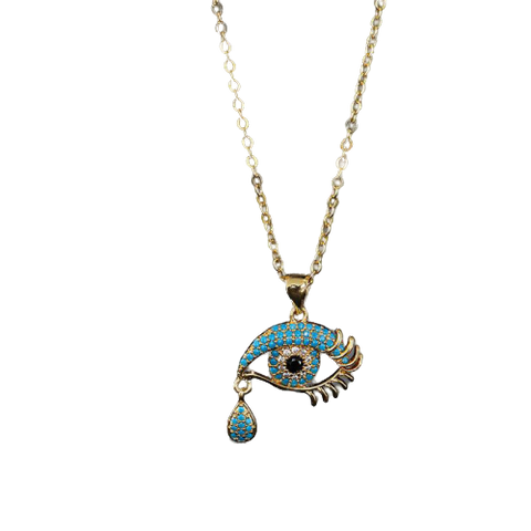 Collier oeil bleu protection