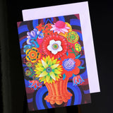 'Blooms in a basket' card