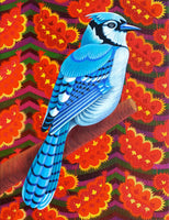 'Blue Jay' oil painting