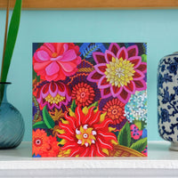 'Bright blooms' card