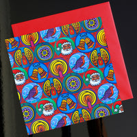 'Christmas in small circles' card