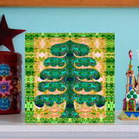 'Christmas tree in green' card