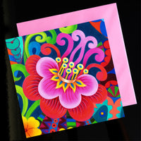 'Exotic flower' card