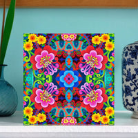 NEW 'Exotic flower pattern' card