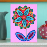 NEW 'Flower cutout on pink' card