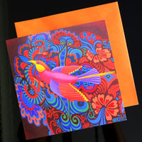 'Flying bird' card