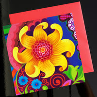 'Giant sunflower' card