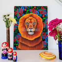 'Lion' oil painting