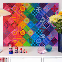 'Painted patchwork' oil painting