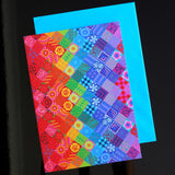 'Painted patchwork' card