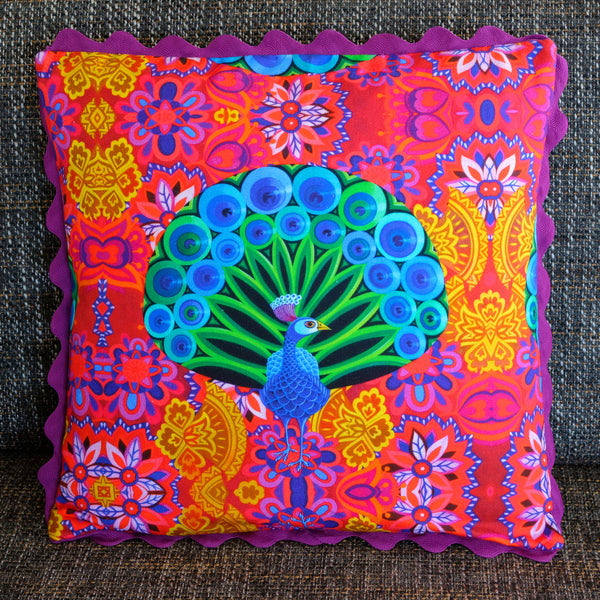 'Peacock' cushion