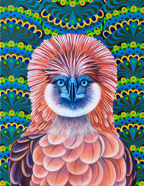 'Philippine eagle' oil painting