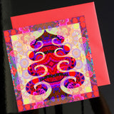 NEW 'Tree in red' card