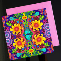 'Sunflower pattern' card