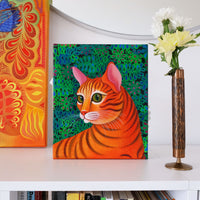 'Tiger cat' oil painting