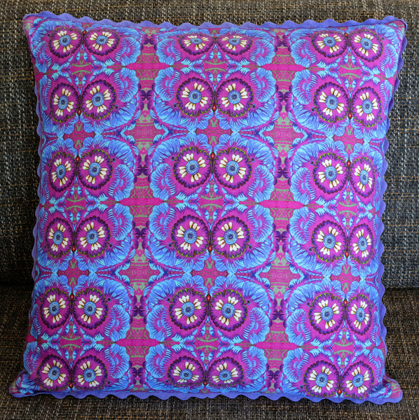 'Marigolds' cushion (large/purple)