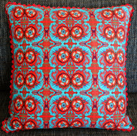 'Marigolds' cushion (large/red)
