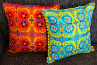 'Marigolds' cushion (orange)