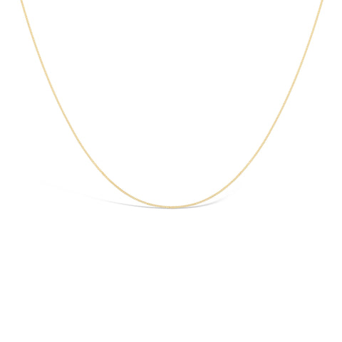 Plain gold chain necklace