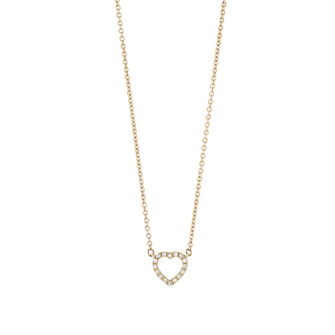 From Here to Eternity diamond heart necklace