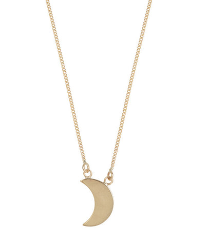 Making Shapes gold crescent pendant