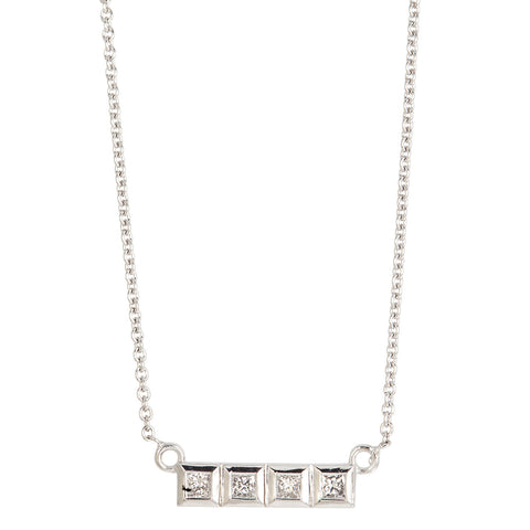 Puzzle Piece diamond pendant
