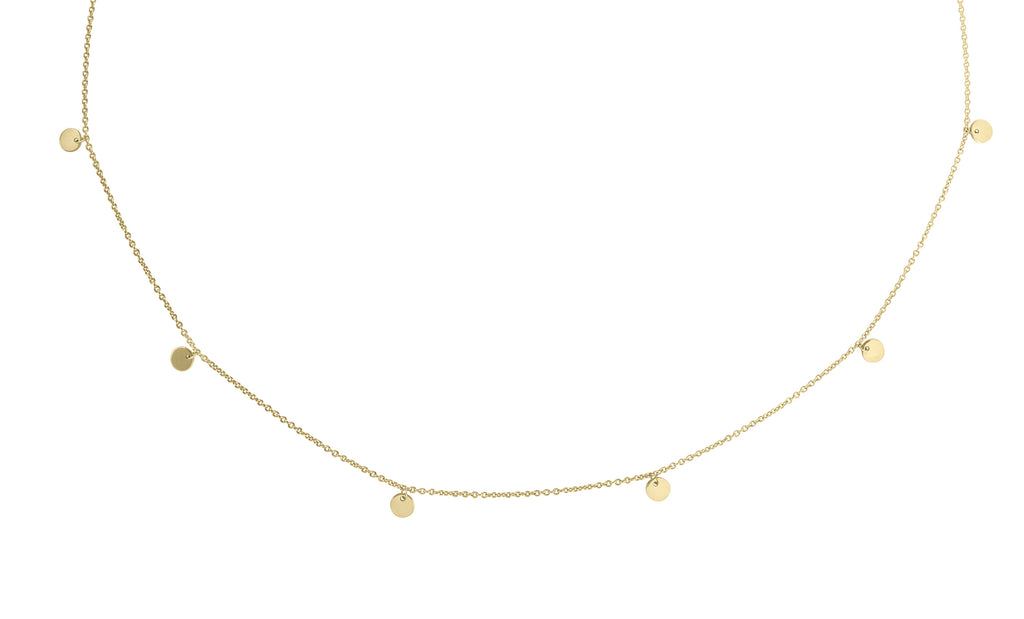 Little Rays of Light gold necklace