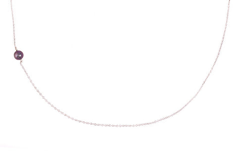 The Interval tiny pearl and silver necklace