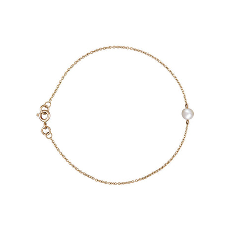 The Interval pearl and gold bracelet