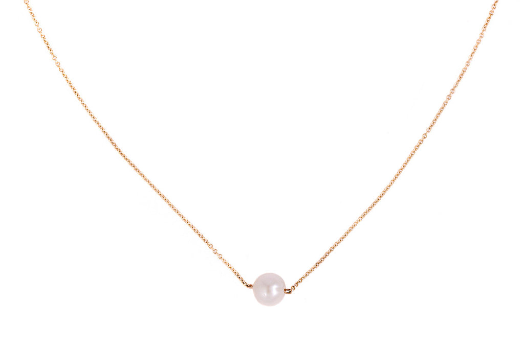 The Interval medium pearl and gold necklace