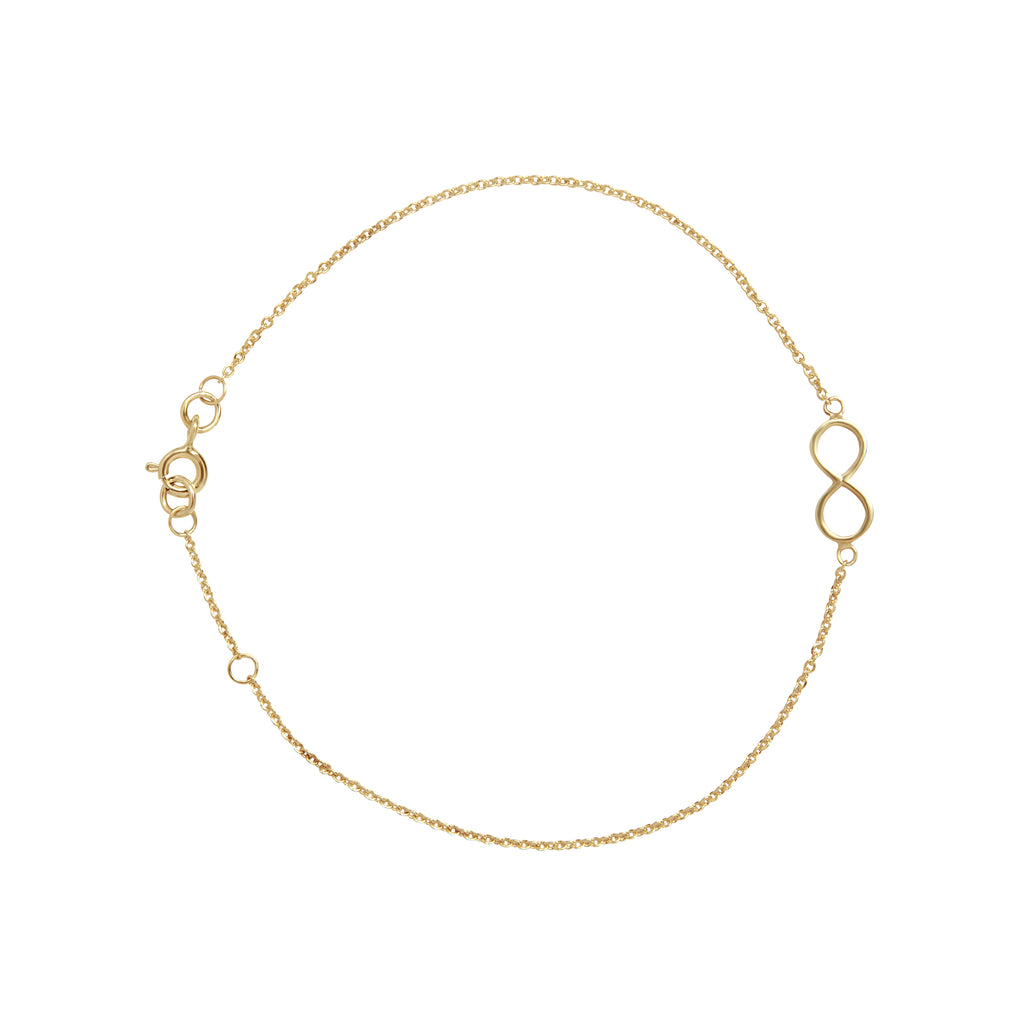 From Here to Infinity gold bracelet