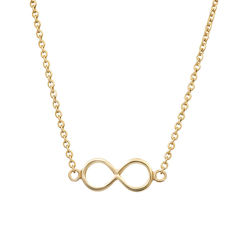 From Here to Infinity gold necklace
