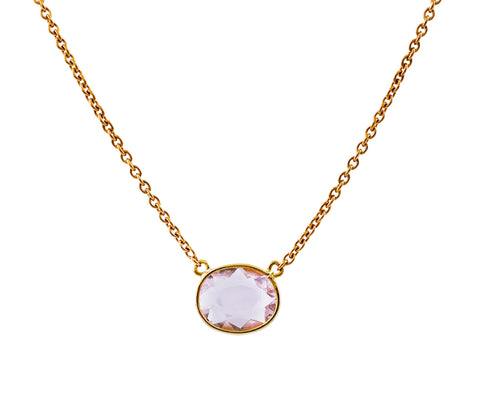 Roses pink sapphire necklace