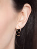 Tribal Spiral gold earrings