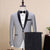 FOLOBE Shawl Lapel Gray Prom Suit