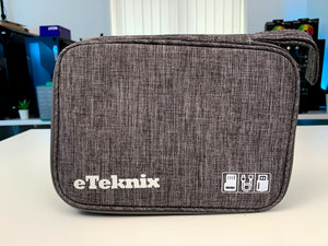 eTeknix Slim Cable Organiser Bag