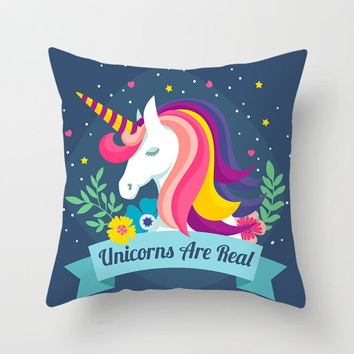Real Fancy Unicorn Pastel Decorative Couch Pillow