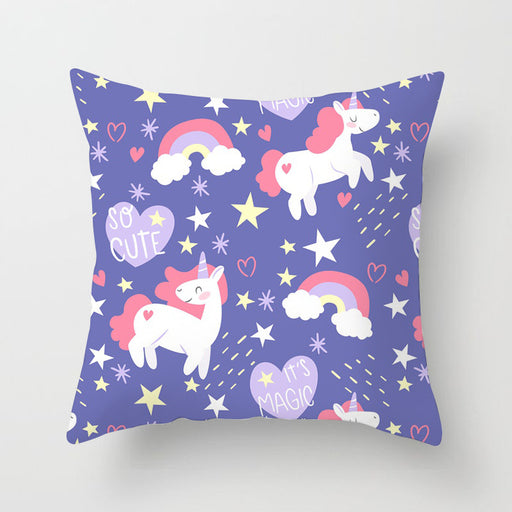 Unicorn Purple Pastel Decorative Couch Pillow