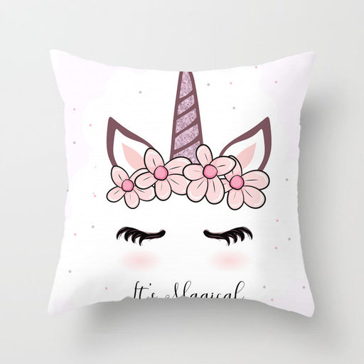 Unicorn Baby Shy Decorative Couch Pillow