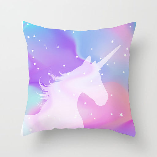 Purple Pink Unicorn Prints Pastel Decorative Couch Pillow