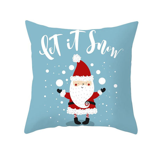 Santa Joy Merry Xmas Decorative Couch Pillow