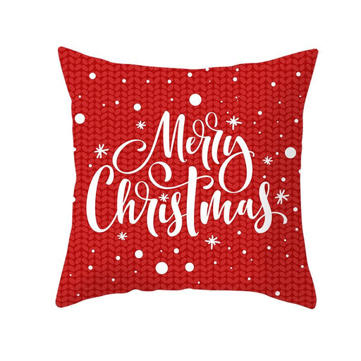 Red Joy Merry Christmas Decorative Couch Pillow