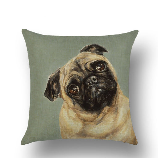 Animal Dog Printed Decorative Pillow Cushion