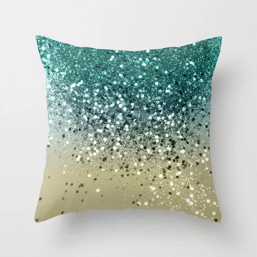 Green Cool Sparkle Magic Sequin Mermaid Glitter Bling Decorative Pillow Cushion